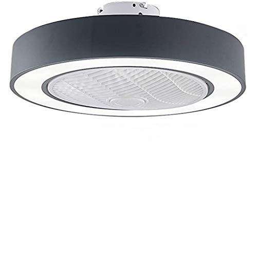 Ventilador Con Iluminación LED Ventilador De Techo Luz, Regulable Con Mando Distancia, Velocidad Del Viento Ajustable, 72W Creativo Moderno Ultra Silencioso Habitación Sala Ventilador Lámpara,Negro