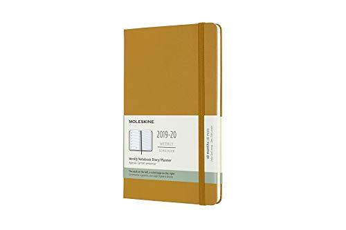 Moleskine 2019-20 Weekly - Agenda Cuaderno Semanal de 18 Meses 2019/2020, Amarillo maduro, Tamaño Grande 13 x 21 cm, 208 Páginas (AGENDAS 18 MOIS)
