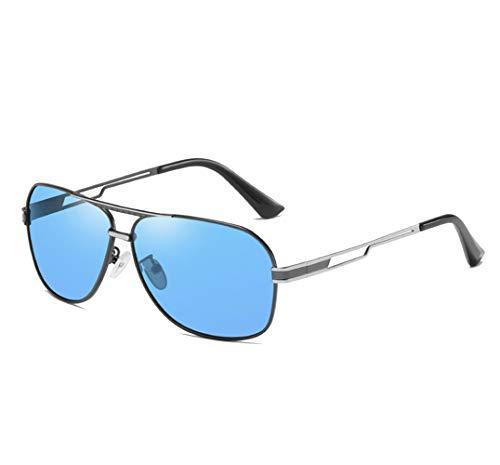 VBNM Gafas de Sol polarizadas, Gafas Deportivas clásicas para Hombres Gafas de Sol 100% UV400, antideslumbrantes, polarizadas TAC, Lentes de Alta definición, Gafas de Seguridad