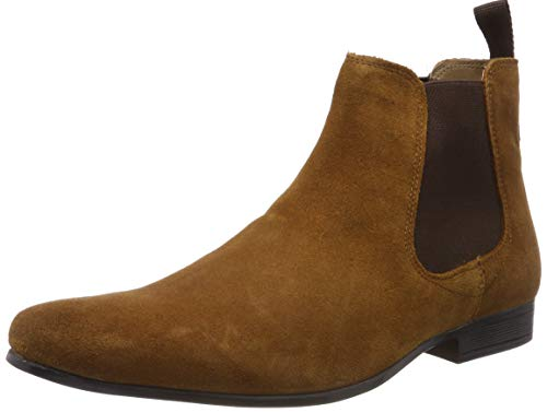 Red Tape Stanway, Botas Chelsea para Hombre, Marrón (Tan 0