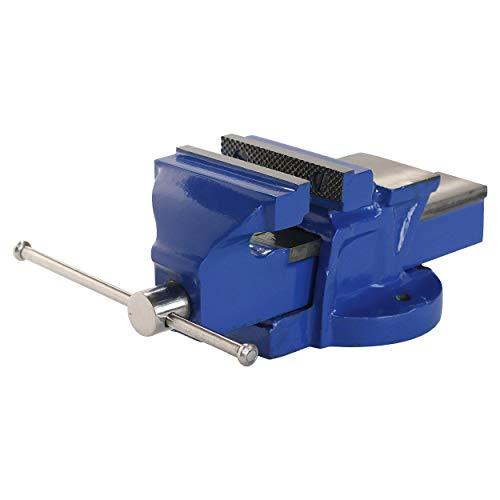 LUX-TOOLS Classic Schraubstock mit einer Spannweite von 125 mm | Zum Einspannen von Werkstücken | Aus robustem Stahlguss