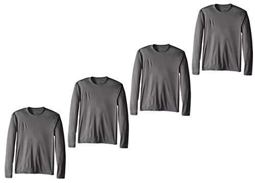 Kit com 04 Camisetas Proteção UV Masculina UV50+ Secagem Rápida – Cinza M