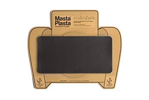MastaPlasta Leather Repair Patch Firstaid for Sofas Car Seats Handbags Jackets etc Dark Brown Color Plain 8 inch by 4 inch Designs Vary by MASTAPLASTA