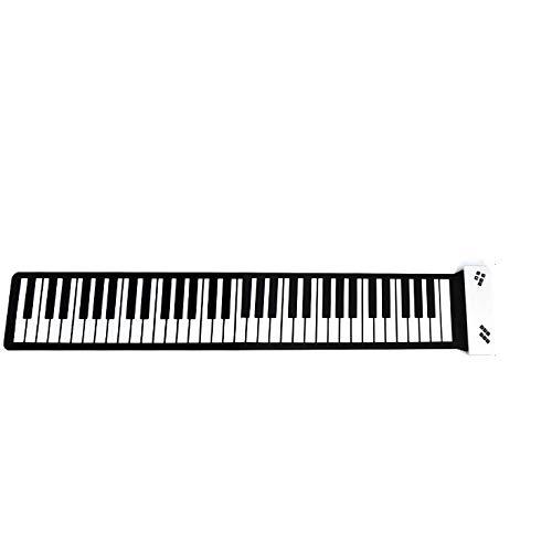 Draagbare elektrische piano, 88 toetsen, met handrol, multifunctioneel digitaal piano toetsenbord, ingebouwde luidspreker, oplaadbare lithium batterij. Wit