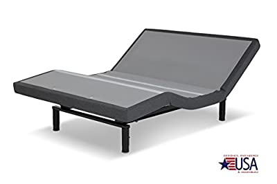 DynastyMattress 15.5-Inch AtlantisBreeze GEL Memory Foam Mattress with S-Cape Adjustable Beds Set Sleep System Leggett & Platt