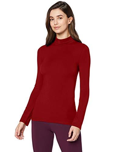 Marca Amazon - Iris & Lilly Camiseta térmica Mujer, Rojo (tomate desecado), S, Label: S