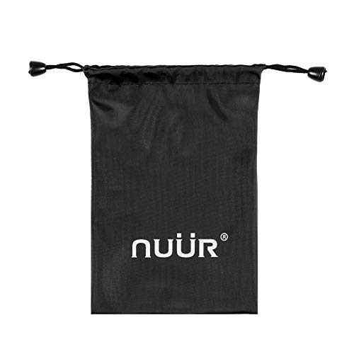 NUÜR Black PU Leather Storage Drawstring Bag Pouch, Waterproof Gift Pouch for Masks, Ideal to Carry Face Masks, Mobile Phone, Accessories, Keys, Water-Resistant, Versatile, Durable