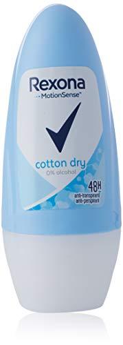 Rexona Cotton Dry Deo Roll-On Women, 6er-Pack (6 x 50 ml)