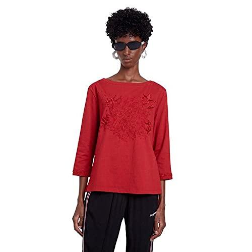 Desigual TS_Dublin Camiseta, Rojo, L para Mujer