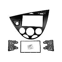 Gdong Store フォードフィエスタ1995-2001フォーカスのためのダブル2 inラジオファスシャスフィット MK1DASHキットステレオパネルの顔を編成する DVDフレーム左手のドライブ (Color Name : Black, Size : 178x100mm)