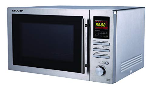 31A5Lt39u+L - Sharp R82STMA Combination Microwave Oven, 25 Litre capacity, 900W, Stainless Steel