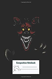 Composition Notebook: Five Nights At Freddys Fnaf 4 Nightmare Foxy Composition Notebook, College ruled