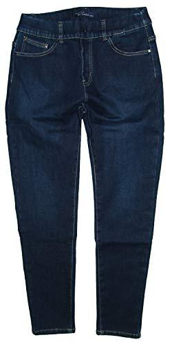BySasha Damen Thermo Stretch Schlupf Jeans Hose, dunkelblau BY-1003, Gr.46 W36