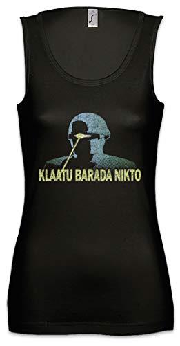 Urban Backwoods Klaatu Barada Nikto Mujer Camiseta Sin Mangas Women Tank Top Negro Talla XL