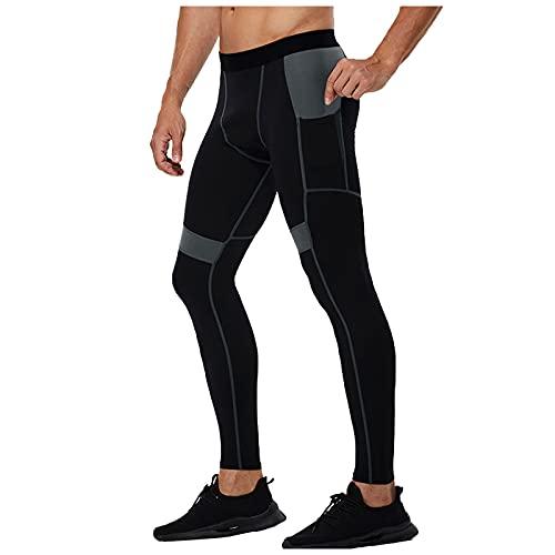 Trailrest Leggings Hombre Gym pantalón de compresión Hombre Pantalones Deporte Hombre Largos Mallas Largas para Running Fitness Yoga