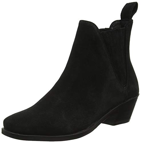 MELVIN & HAMILTON MH HAND MADE SHOES OF CLASS Damen Kylie 1 Chelsea Boots, Schwarz (Black Suede Pattini-Black-Elastic-Black-Lining Nappa-Black-Insole Leather-Hrsrblackc), 39 EU