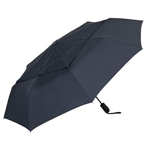 風が抜けるキングサイズ自動開閉折りたたみ傘 70cm (ブラック) 【LIEBEN-0278】 大きい傘