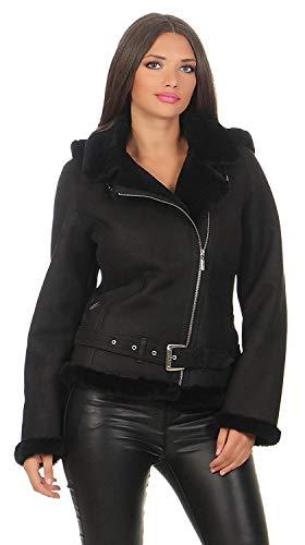 Lammfelljacke Jessy schwarz Größen XL - 42