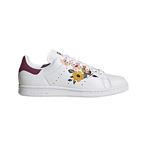adidas Stan Smith W, Zapatillas de Gimnasio Mujer, FTWR White Power Berry Pink Tint, 36 EU