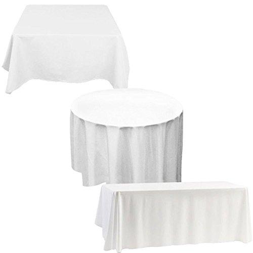Trimming Shop Tovaglia Tessuto Premium qualità Durevole Tavolo Cover Matrimonio Decorazioni Banchetti Azienda Feste Eventi - Bianco, 70x70 Square - Set of 1