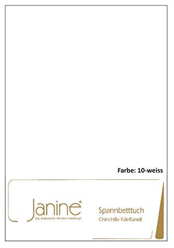 Janine Spannbettlaken Chinchilla 7000, Gr. 150x200 cm, Fb. 10 weiß, Edelflanell