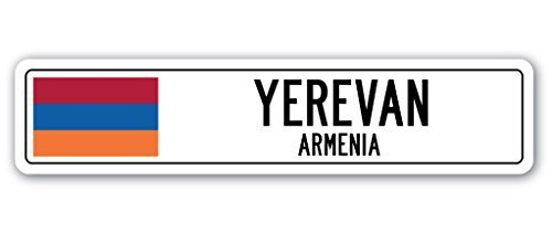 Zitat Aluminium, Armenien Jerewan Street Schild Armenische Flagge City Country Road Wand Geschenk Metall Geschenk Schild, Dekoration