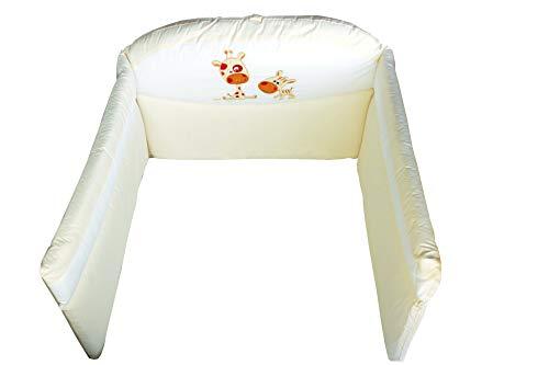 Picci Paracolpi - Nestchen Mod. 12 Pepe cream hell-beige sahne für Babybett/Kinderbett