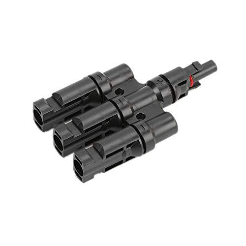 Demarkt MC4 Stecker 3-Fach Abzweigbuchsen MC4-kompatibel T-Stecker