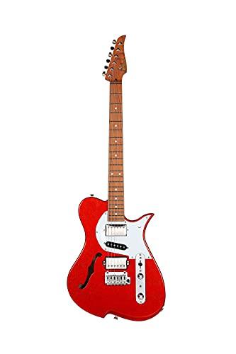 Vola MIJ - Guitarra eléctrica Vasti ROF Orange Sparkle arce torreado mango...