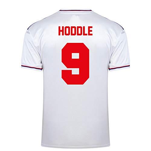 Inglaterra - Camiseta 1ª y 2ª equipación Final Copa del Mundo 1982 - Oficial - Blanco - Hoddle 9 - XXL