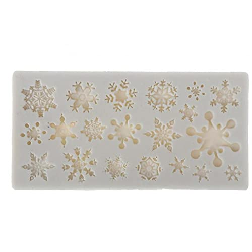 Onsinic Christmas Snowflake Pattern Silicone Mold Chocolate Cake Mold Baking Non-stick and Heat-resistant Kitchen Handmade Tools