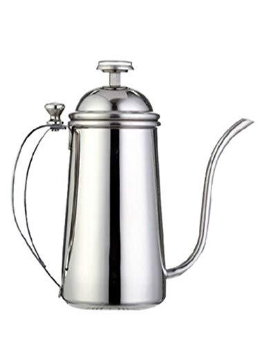 SJQ-coffee pot CafetièRe éLectrique AvancéE en Acier Inoxydable Poli, avec Une PoignéE RéSistante à la Chaleur et Un ThermomèTre Visuel, Appareils de Cuisine, 500 / 700ml, Argent