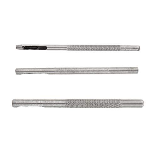 icke-varumärke 3 ps rostfritt stål läderbälte klocka band packning 2 mm 3 mm 4 mm hål stansning