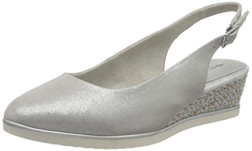 Tamaris Damen 1-1-29503-24 Slingback Pumps, Silber (Silver Pearl 934), 39 EU