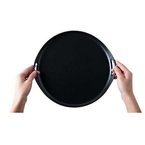 YYF Assiette en céramique ronde givrée - Collations/Fruits/Plat froid/Salade/Steak 10\