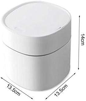 Bonwete Tiny Trash Can for Desk Mini Garbage Can Plastic Small Trash Can Mini Wastebin for Waste Storage