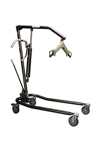 Proactive Medical Protekt Onyx Hydraulic Patient Body Lift - Heavy Duty for Home Use. 450lbs Capactiy with Adjustable Base