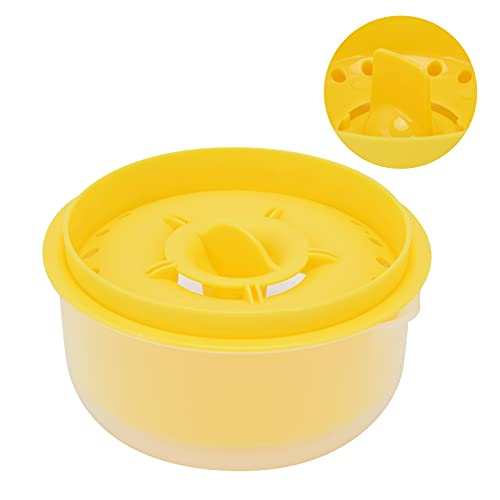 SHYEKYO Separador de Huevos, Extractor de Huevos no pegajoso Conveniente y eficiente Material de PP para Separar hasta Las yemas de Huevo para Usar en su hogar(Yellow)