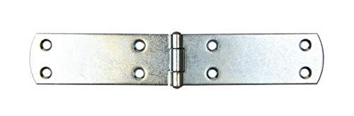Gedotec französische Kistenbänder schwere Torbänder Ladenbänder aus Stahl | 180 x 35 mm | Torband blau verzinkt | Scharnier Materialstärke 2,0 mm | 1 Stück - Türscharnier Metall zum Schrauben