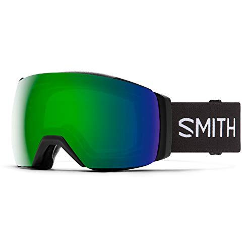 Smith I/O MAG XL Snow Goggle - Black '21 | Chromapop Sun Green Mirror + Extra Lens