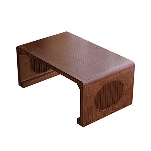 Lucky Star Mesas de café Sólido Madera Bahía Ventana Escritorio Cama Mesa pequeña Tatami Tatami Pequeña Mesa de Café Mesa Simple Kang Table Mesa de Té Pequeña Mesa Baja (tamaño : 90 x 50 x 30cm)