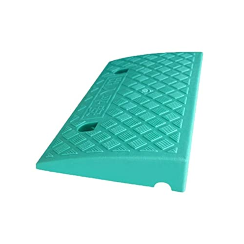Alfombrilla de plástico para pendiente, color antideslizante, triangular, para interior, para silla de ruedas, almohadilla para umbral, rampas de seguridad para scooter de bicicleta (49,5 * 26,5 * 10,