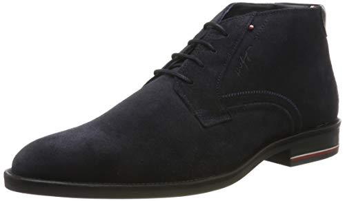 Tommy Hilfiger Herren Signature Hilfiger FM0FM Hohe Sneaker, Blau (Navy Fm0fm02422-403), 44 EU