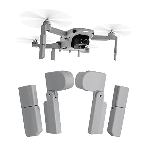 kwmobile Extensión de Tren de Aterrizaje para dron Compatible con dji Mavic Mini 2 - 4X Elevador de Patas para aterrizar Drones