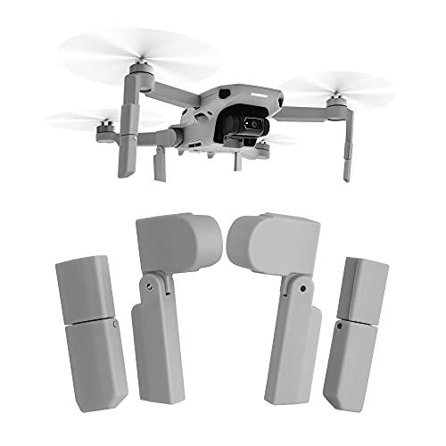 kwmobile Set 4X Piede Atterraggio Drone Compatibile con DJI Mavic Mini 2 - Allungamento Piedi - Estensione Telaio Droni ABS Grigio