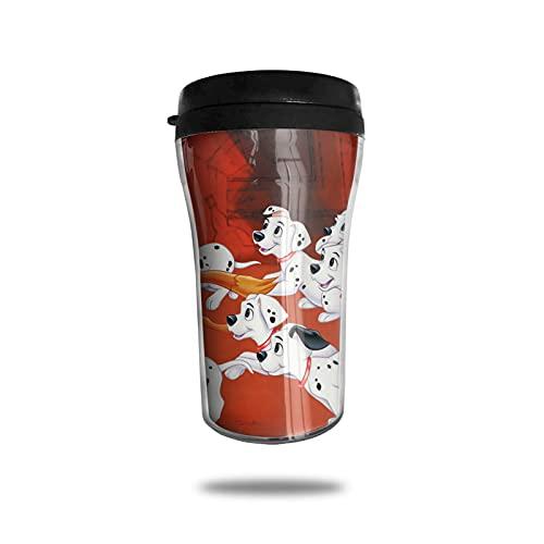 101 Dálmatas Series Taza de café con aislamiento al vacío, taza termo taza doble pared taza viaje bebida vidrio viaje trabajo moda conveniencia