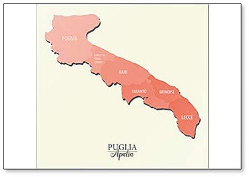 Puglia Apulia Kaart - Koelkast Magneet