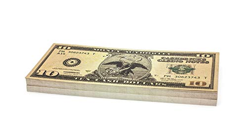 Cashbricks 100 x $10 Dollar Spielgeld Scheine