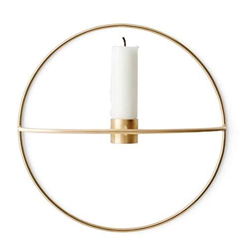 KIICN Chandelier en métal de candélabre en métal Moderne Rond 19 / 29CM à Suspendre Nordique pour Patio, intérieur/extérieur, événements, fêtes et Mariages