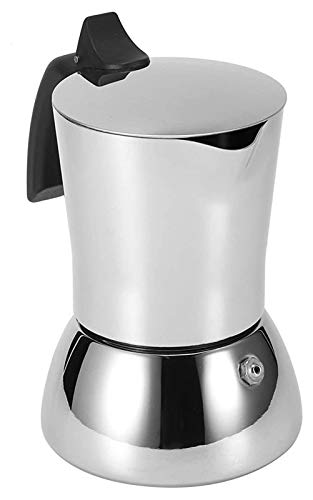 LKXSWZQ Acero Inoxidable 304 Moka Pot EXTRACCIÓN Italiana Expresso Negro EPRESSO Pot Mano DE Mano PUERTE Máquina De Café Espesada